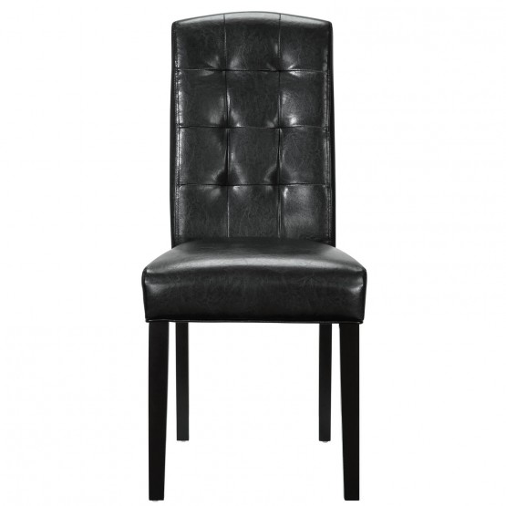 Perdure Tufted Faux Leather Dining Side Chair photo