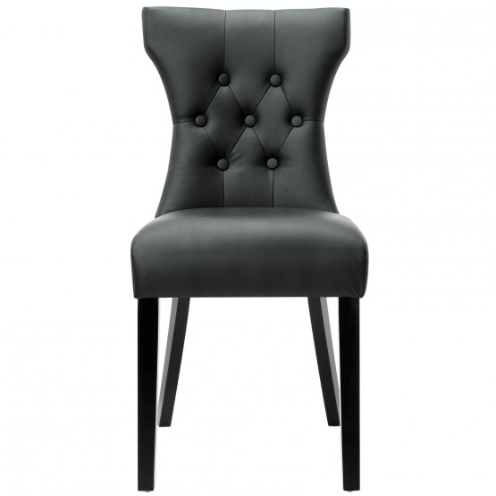 Silhouette Dining Side Chair, Black photo