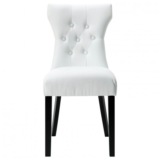 Silhouette Dining Side Chair, White photo