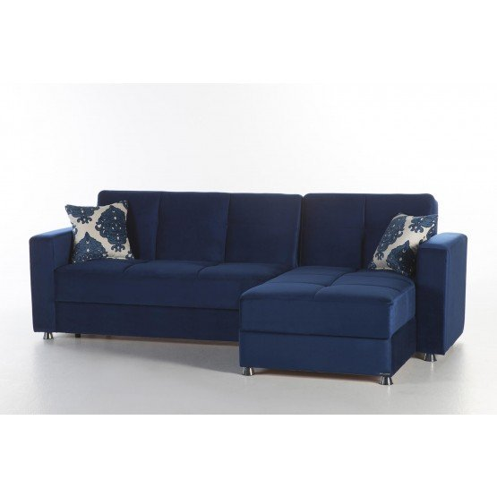 Elegant Reversible Sleeper Sectional Sofa w/Storage photo