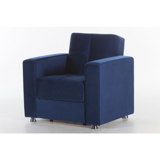 Elegant Microfiber Sleeper Armchair w/Storage photo