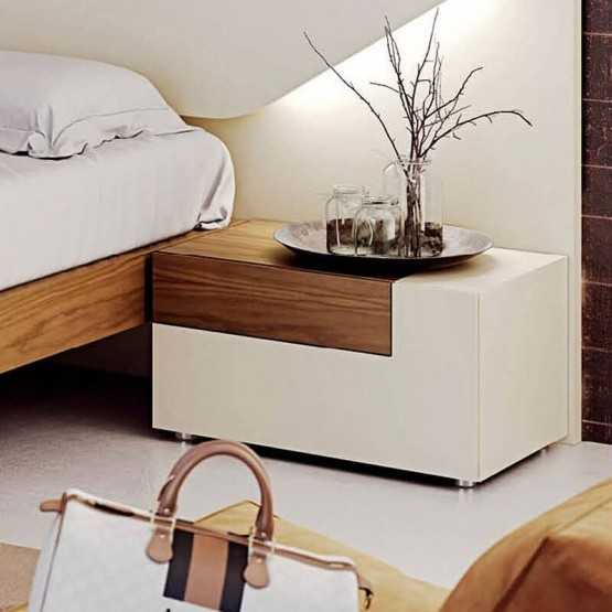 Elena Wood Veneer Right Nightstand photo
