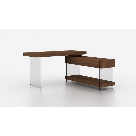 Elm Modern Office Desk with Storage Drawers photo