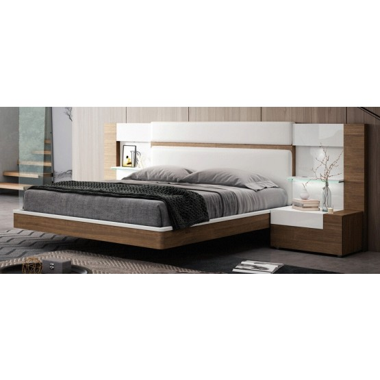 Mar Wood Veneer/Eco-Leather Platform Bed photo