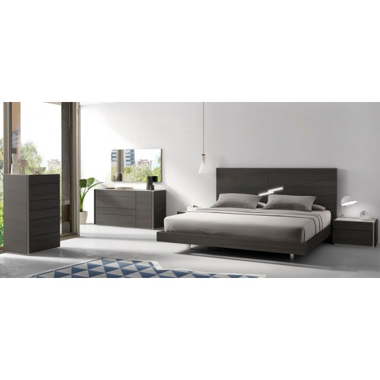 Faro Premium Wood Veneer Platform Bedroom Set photo