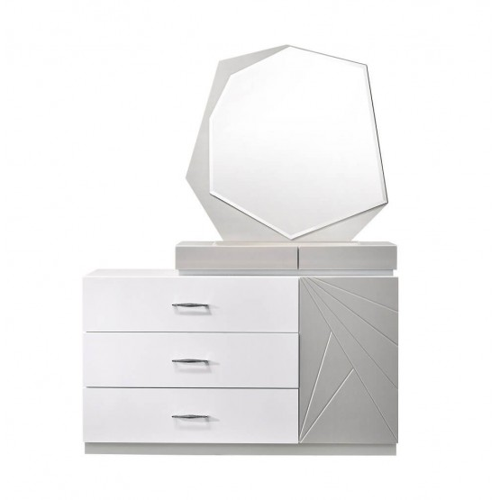Florence Modern Lacquer Dresser with Mirror photo