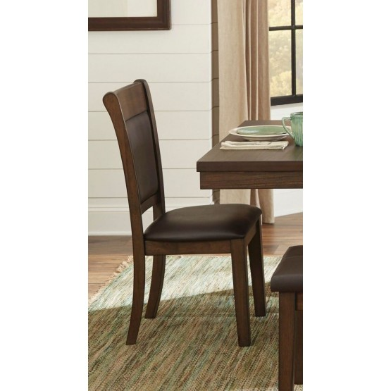 Wieland Transitional Vinyl Dining Chair photo