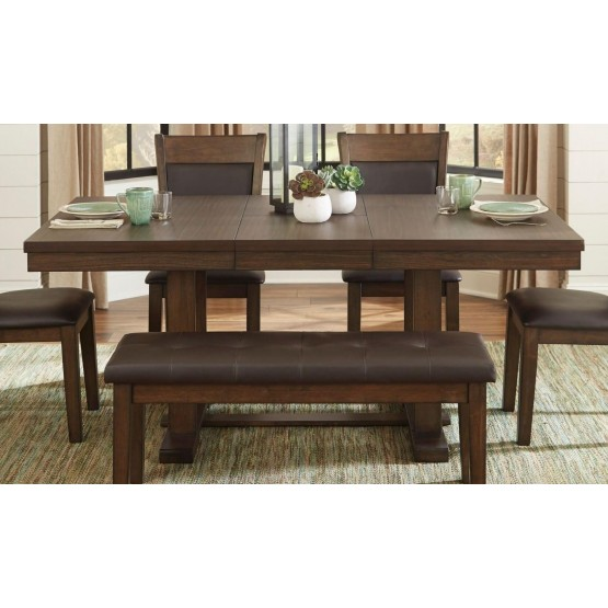 Wieland Transitional Wood Extendable Dining Table photo