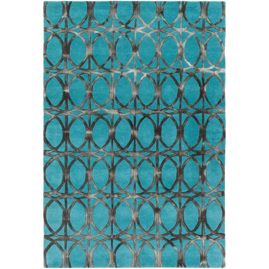 Fran Wool Rectangular Hand-tufted Rug, Composition 1 photo