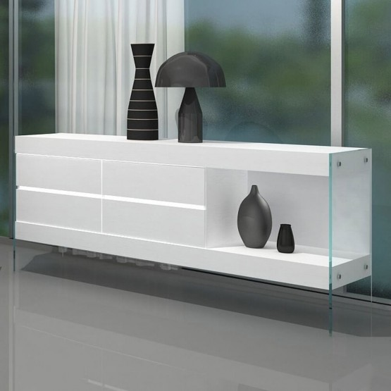 Cloud Modern Buffet with Open Shelf photo