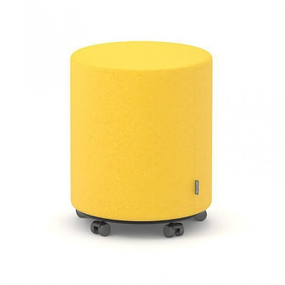 Giro Small Round Pouf with Castors photo
