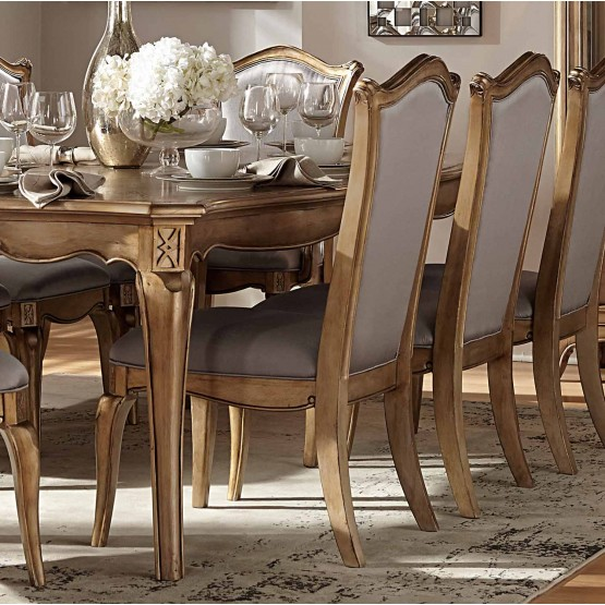 Chambord Antique Fabric/Wood Dining Chair photo