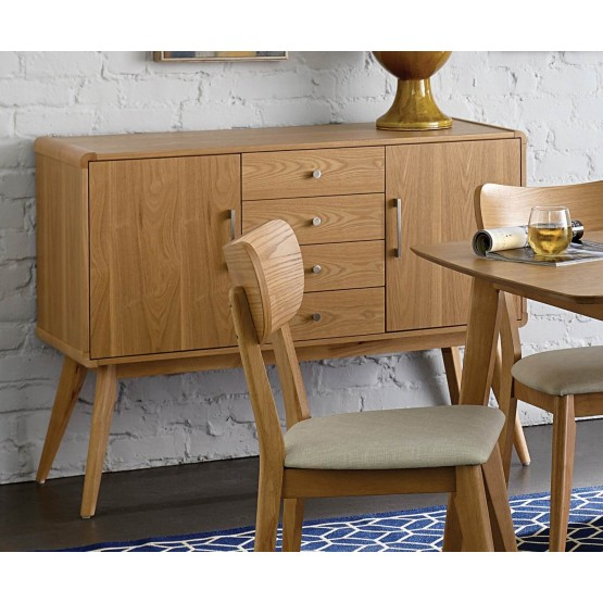Anika Mid-Century Modern Wood Buffet photo
