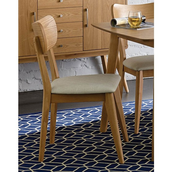Anika Mid-Century Vinyl/Wood/Wood Veneer Dining Chair photo