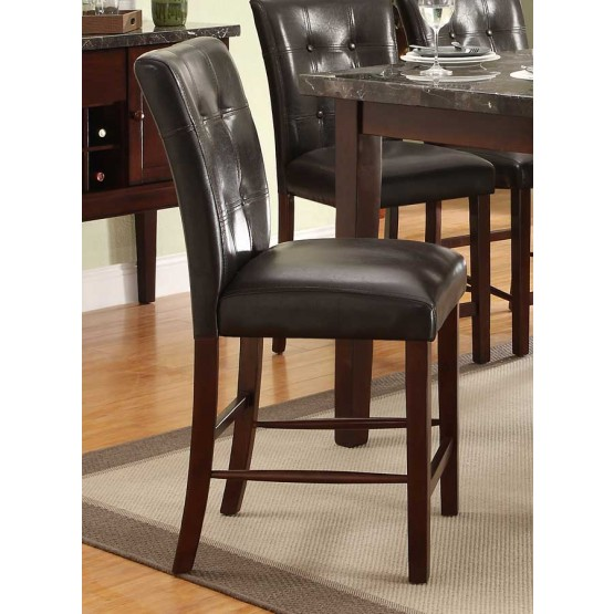 Decatur Transitional Vinyl/Wood Counter Dining Chair photo