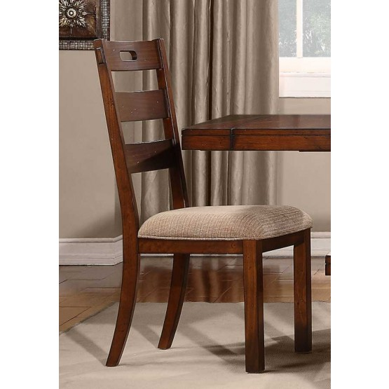Clayton Transitional Fabric/Wood Dining Chair photo