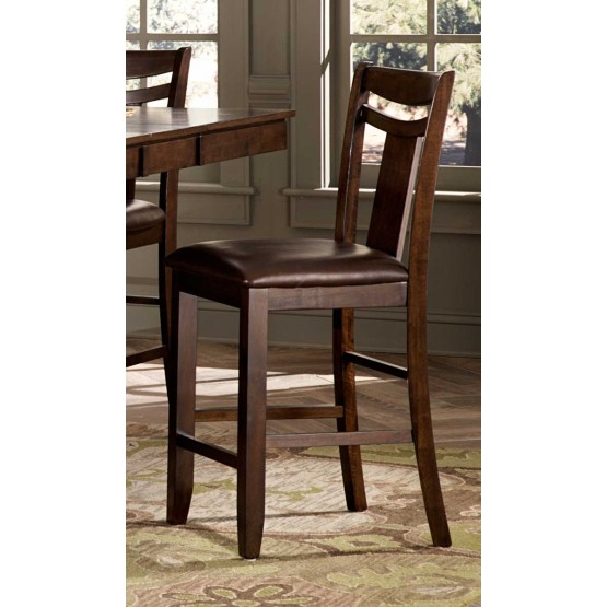 Broome Transitional Vinyl/Wood Counter Dining Chair photo
