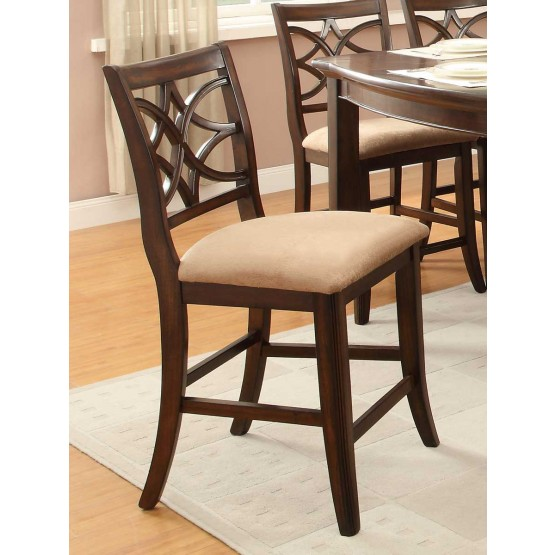 Keegan Classic Fabric/Wood Counter Dining Chair photo