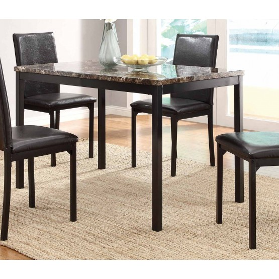 Tempe ClassicRectangular Faux Marble/Metal Dining Table photo