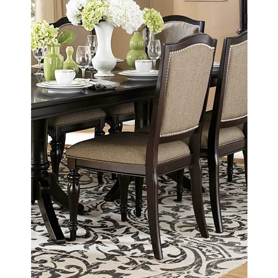 Marston Classic Fabric/Wood Dining Chair photo