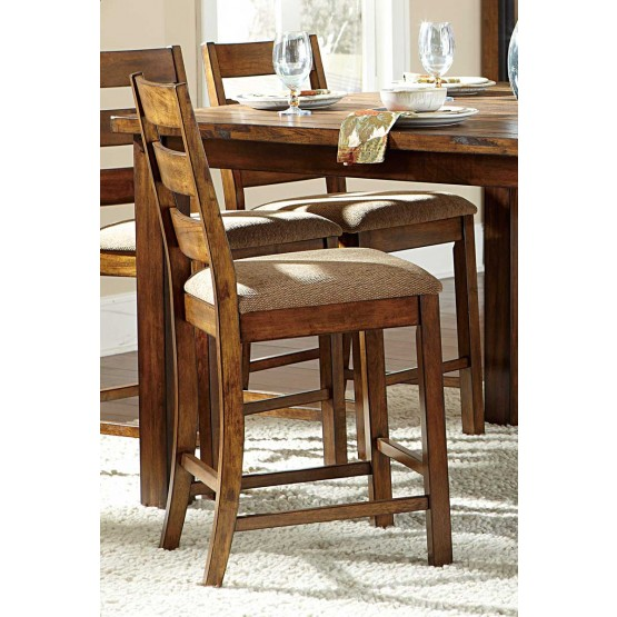 Ronan Transitional Fabric/Wood Counter Dining Chair photo