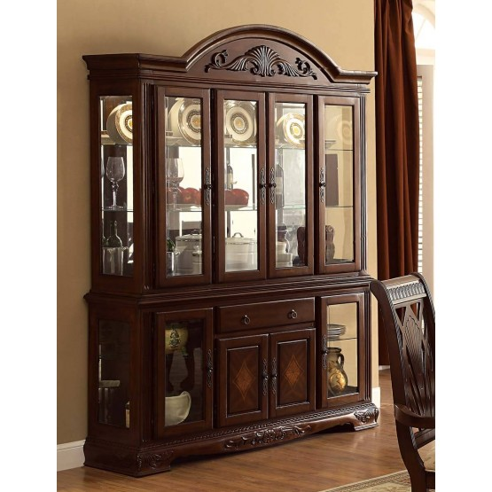 Norwich Leg Classic Glass/Wood China Cabinet photo