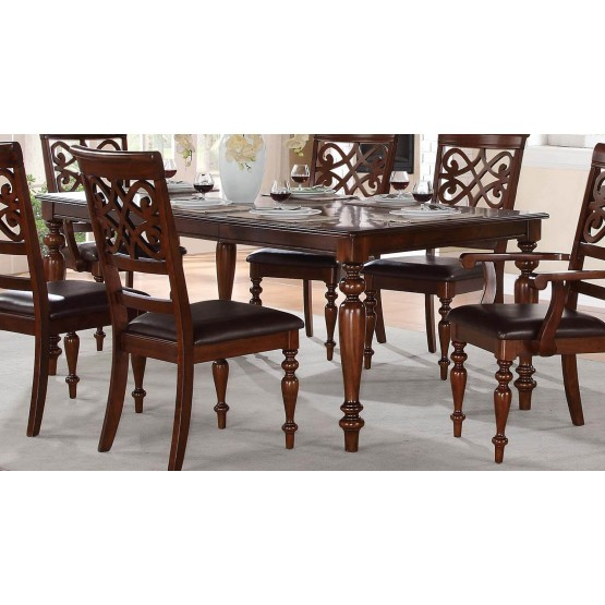 Cresswell Classic Rectangle Wood/Wood Veneer Dining Table photo