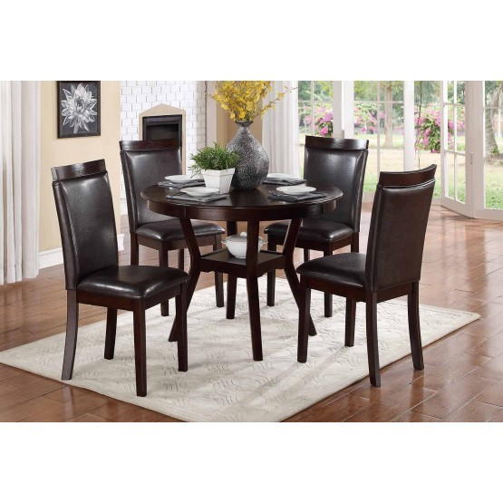 Shankmen Transitional Dining Room Set (Table + 4 Chairs) photo