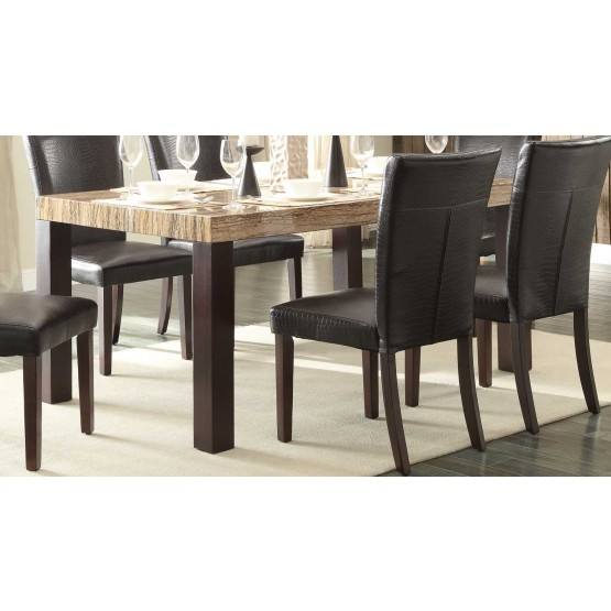 Robins Modern Rectangular Faux Marble/Wood Dining Table photo