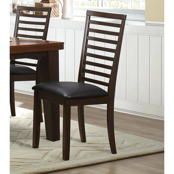 Walsh Transitional Vinyl/Wood Dining Chair photo