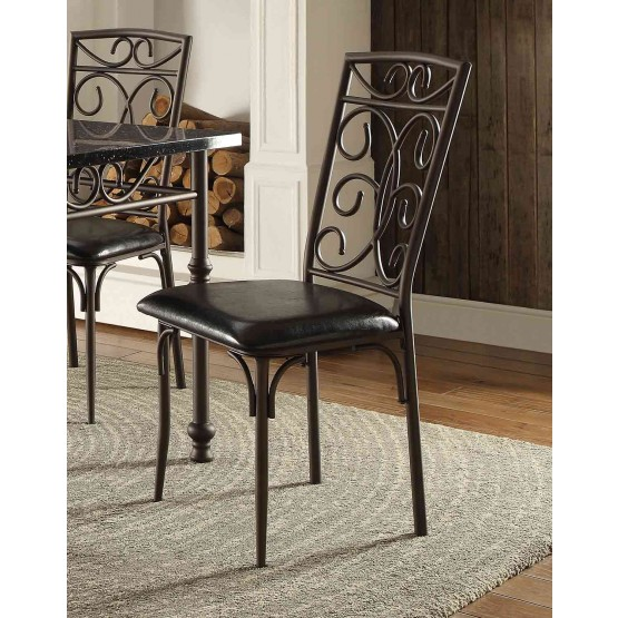 Dryden Classic Metal/Vinyl Dining Chair photo