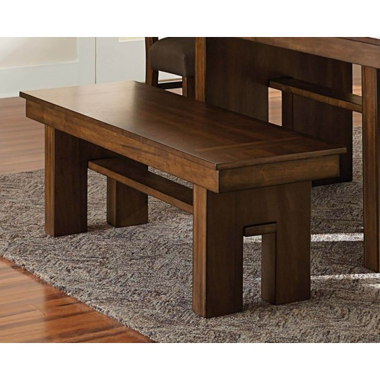 Sedley Transitional Wood Dining Bench photo