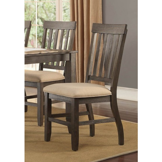 Nantes Classic Fabric/Wood Dining Chair photo