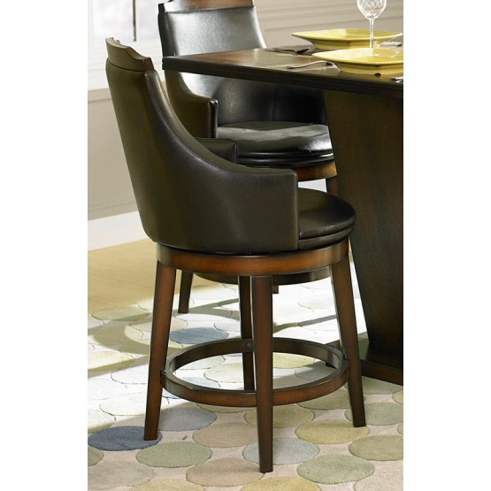 Bayshore Transitional Vinyl/Wood Counter Dining Chair photo