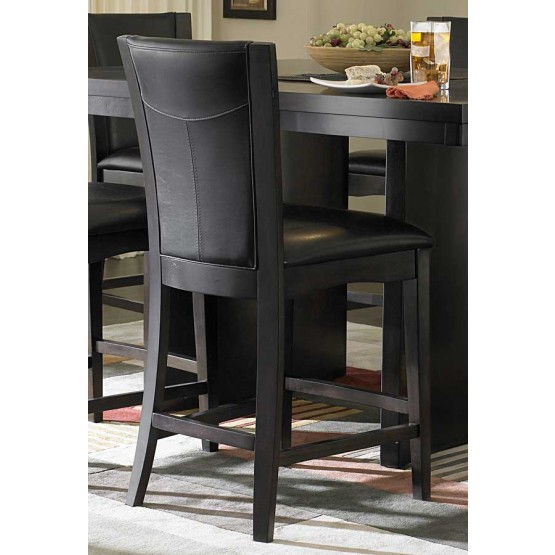 Daisy Transitional Vinyl/Wood Counter Dining Chair photo