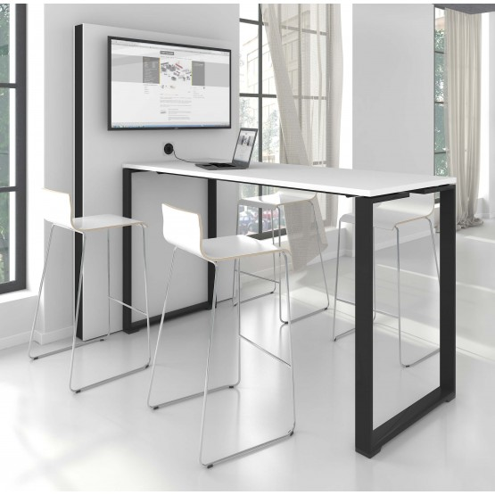 Jazz Office High Table with Metal Frame photo