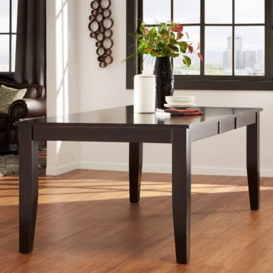 Crown Point Wood/Wood Veneer Extendable Dining Table photo