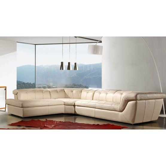 397 Italian Leather Sectional photo