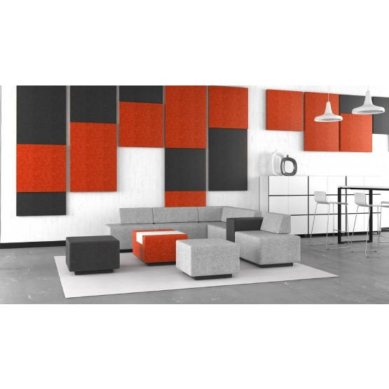 Jazz Chill Out Modular Lounge 4-seater L-shaped Seating with 3 Poufs photo