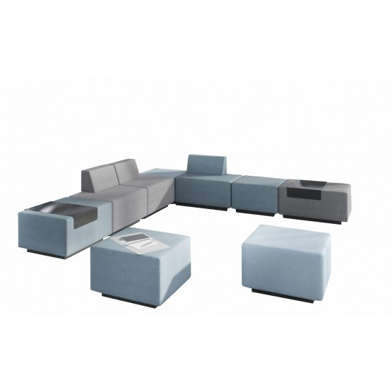 Jazz Chill Out Modular Lounge 6-seater L-shaped Seating with 2 Poufs photo