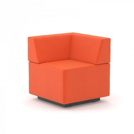 Jazz Chill Out Pouf with Angular Backrest photo