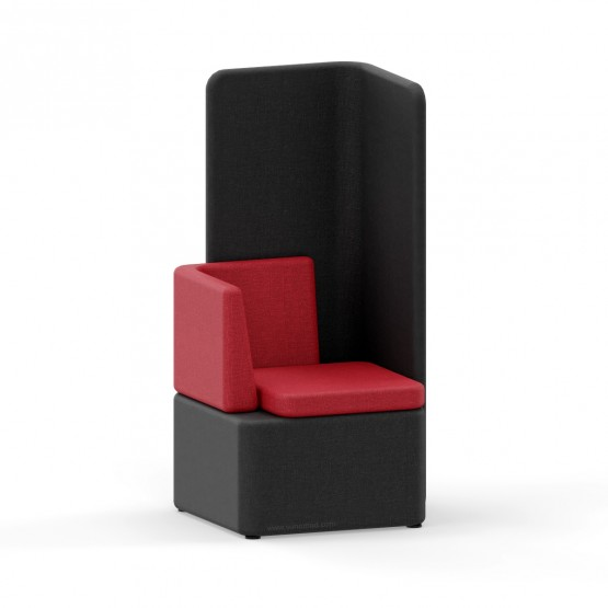 KAIVA Modular Small Seat with Left Backrest and High Right Screen photo