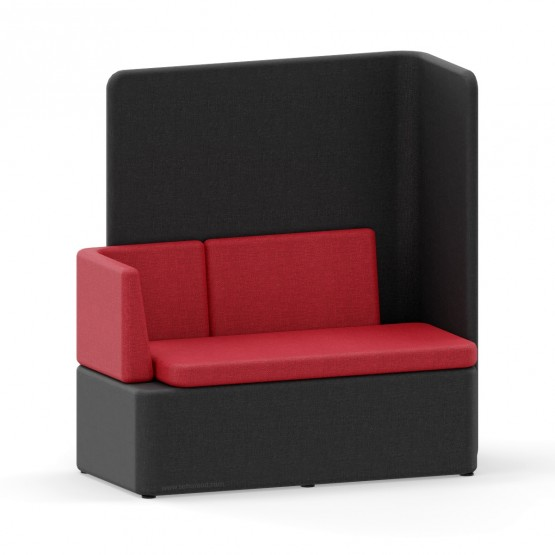 KAIVA Modular Large Seat with Left Backrest and High Right Screen photo