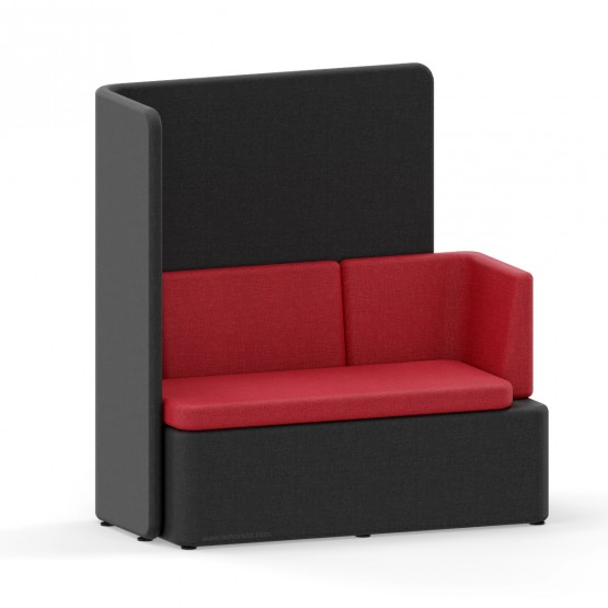 KAIVA Modular Large Seat with Right Backrest and High Left Screen photo