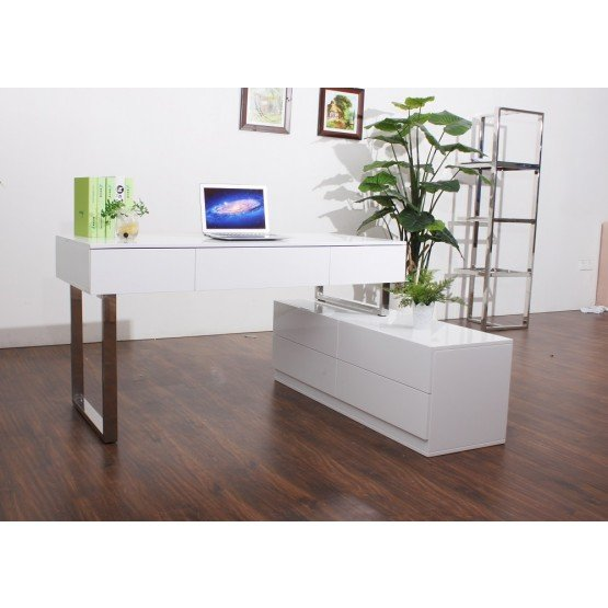 KD12 Modern Office Desk with Storage Drawers photo