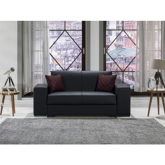 Kobe PU Storage Sleeper Loveseat photo