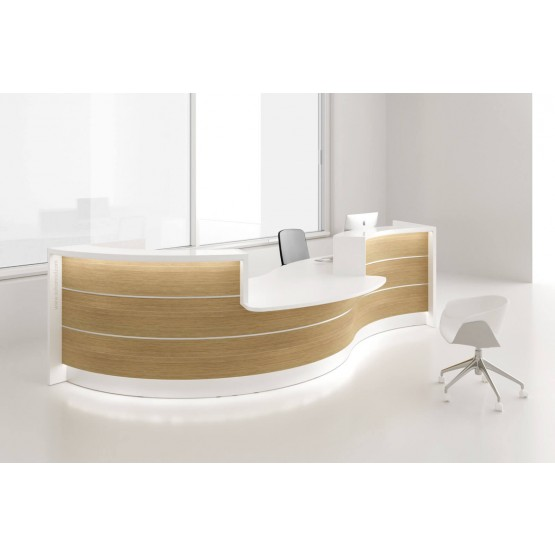 VALDE Curved Reception Desk w/Counter Top photo