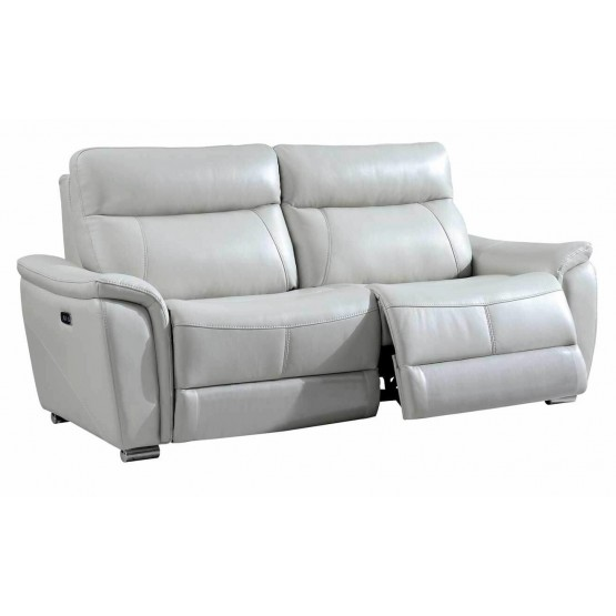 1705 Leather/Eco-Leather Sofa w/2 Electric Recliners photo