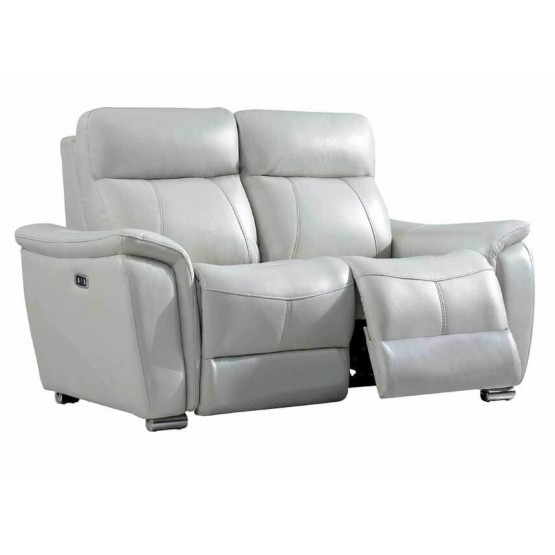 1705 Leather/Eco-Leather Loveseat  w/2 Electric Recliners photo