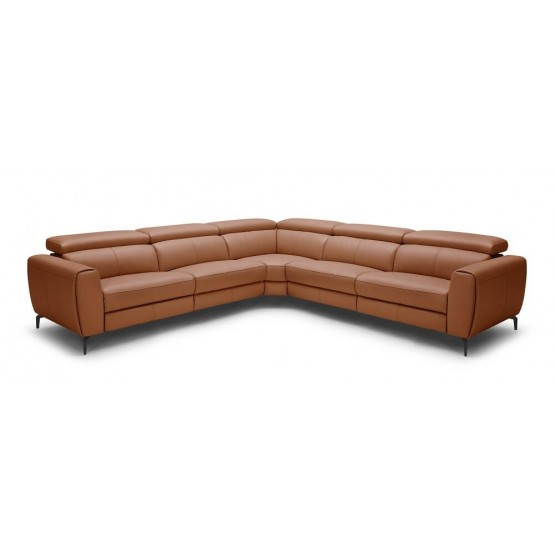 Lorenzo Premium Italian Leather Motion Sectional photo